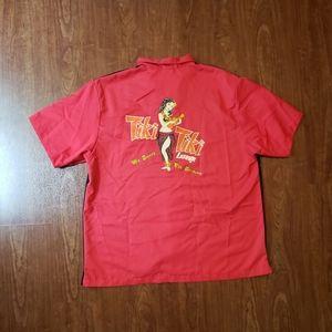 Hilton Retro Bowling T-shirt Tiki Tiki Hula Girl